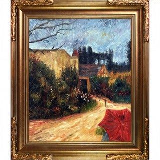 Paul Gauguin 'Pissarro's Garden, Pontoise' Hand Painted Framed Canvas Art