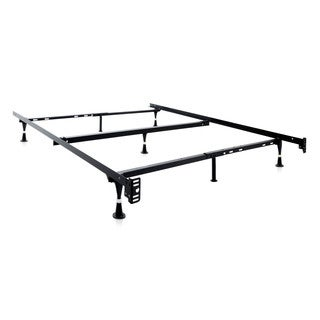Malouf Structures Adjustable Queen/ Full/ Twin Metal Bed Frame