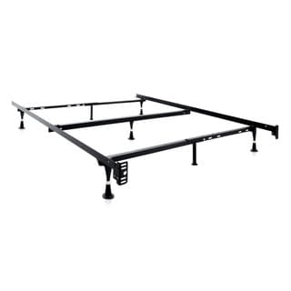 malouf structures adjustable queen full twin metal bed frame