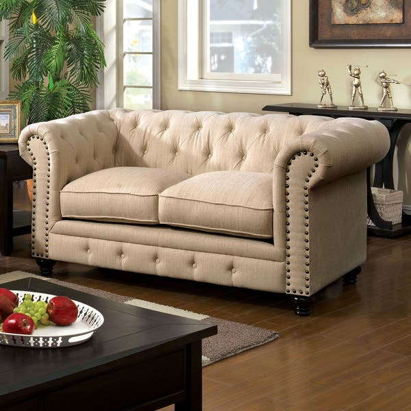 Pleasant Shop Staffers Traditional Deep Tufted Tuxedo Style Loveseat Caraccident5 Cool Chair Designs And Ideas Caraccident5Info