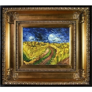 Vincent Van Gogh Wheat Field With Crows Hand Painted Framed Canvas Art