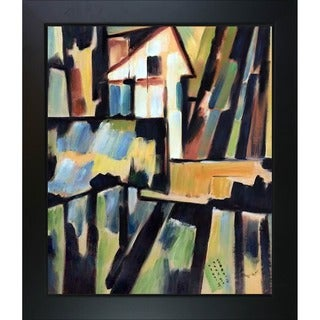 Amadeo Cardoso 'Basque Landscape' Hand Painted Framed Canvas Art