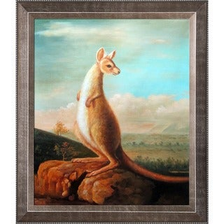 George Stubbs 'The Kongouro from New Holland' Hand Painted Framed Canvas Art