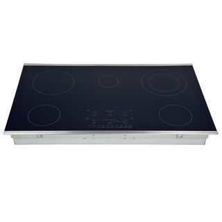 Hallman Stainless Steel 36-inch Smooth-top 5 Flex-power Element Electic Cooktop