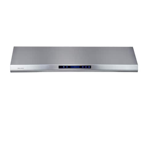 48-inch Under Cabinet Wall Mount Range Hood With 1,000 CFM Blower and Touch Sensitive LCD Control Panel