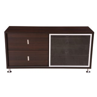 Andamo Tall Wenge Brown TV Stand