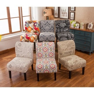 Living Room Chairs   Shop The Best Brands up to 10  Off   Capa Fabric Armless Contemporary Accent Slipper Chair. Accent Chair For Living Room. Home Design Ideas