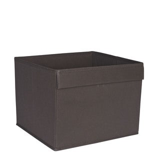 Household Essentials Basic Fabric Open Storage Bin With Pocket Handle