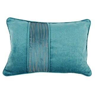 Aqua-colored Polyester 14-inch x 22-inch Throw Pillow