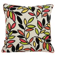 Multicolor Polyester 22-inch x 22-inch Throw Pillow