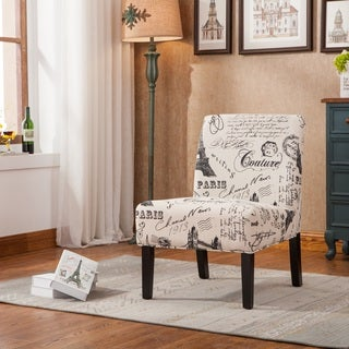 Wonderful White Barrel Back Accent Chair with Printed Script Fabric - Free  ZS32