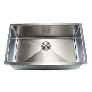 32-inch Stainless Steel Single-bowl Undermount 15-mm Radius Kitchen Sink