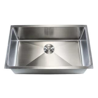 32-inch Stainless Steel Single-bowl Undermount 15-mm Radius Kitchen Sink