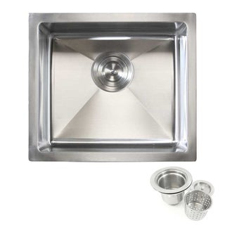 Stainless Steel 17-inch Undermount Kitchen Island/Bar Sink with 15-millimeter Radius