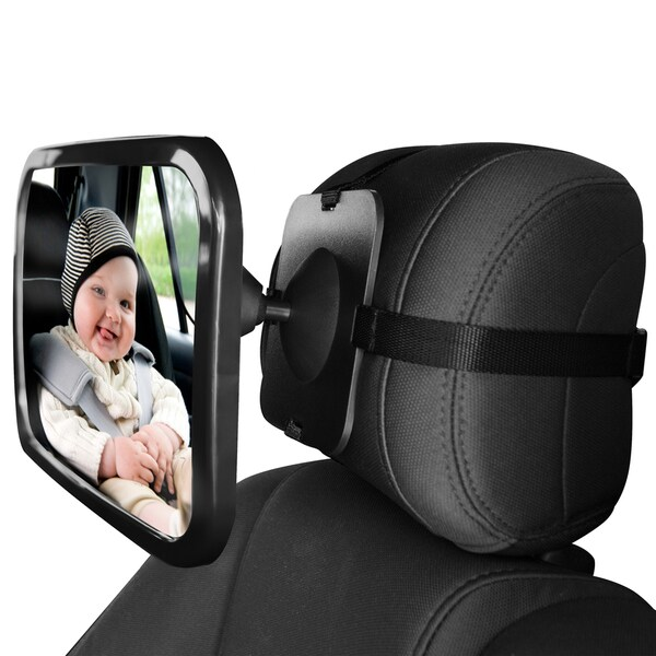 Oxgord Shatterproof Safety Rear View Baby Car Seat Mirror - Free ...