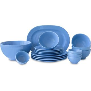 Waechtersbach Fun Factory Blue Bell Blue Ceramic 18-piece Dinnerware Set