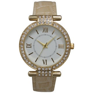 Olivia Pratt Women's Unique Chic Rhinestone Accented Watch
