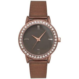 Olivia Pratt Women's Rhinestone Accented Elegant Classic Watch