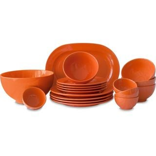 Waechtersbach Fun Factory Orange 18-Piece Dinnerware Set
