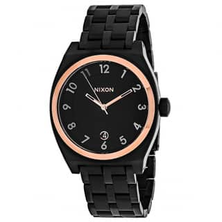 Nixon Women's A325-957 Monopoly Round Black dial Stainsless steel Bracelet Watch|https://ak1.ostkcdn.com/images/products/12332177/P19163584.jpg?impolicy=medium