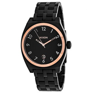 Nixon Women's A325-957 Monopoly Round Black dial Stainsless steel Bracelet Watch