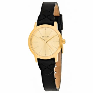 Nixon Women's A398-2143 Kenzi Round Gold dial Leather strap Watch