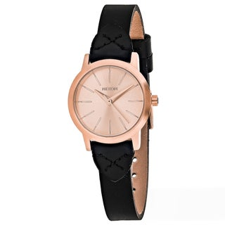 Nixon Women's A398-2159 Kenzi Round Rose Gold dial Leather strap Watch