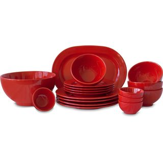 Waechtersbach Fun Factory Red 18-piece Dinnerware Set