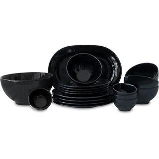 Waechtersbach Fun Factory Black 18-Piece Dinnerware Set