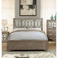 Alessa Transitional Rustic Natural Tone Panel Bed by FOA