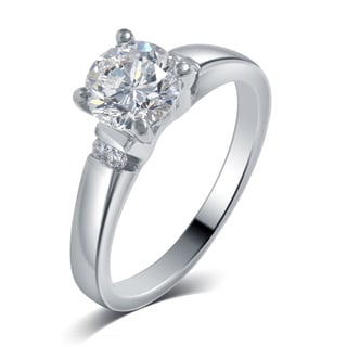 Divina 14k White Gold 3/5ct TDW Diamond Engagement Ring