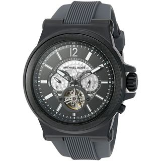 Michael Kors Men's MK9026 'Dylan' Multi-Function Black Silicone Watch
