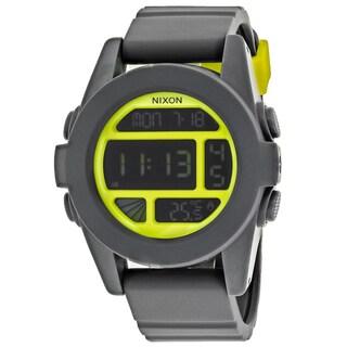Nixon Men's A197-147 Digital Round Black dial Silicone strap Watch