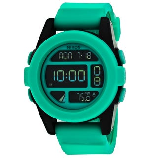 Nixon Men's A197-2234 Digital Round Black dial Silicone strap Watch