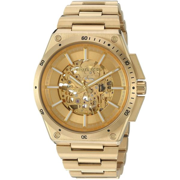 e68efc87d03d Shop Michael Kors Men s MK9027  Wilder  Automatic Gold-Tone Stainless Steel  Watch - Free Shipping Today - Overstock - 12332203