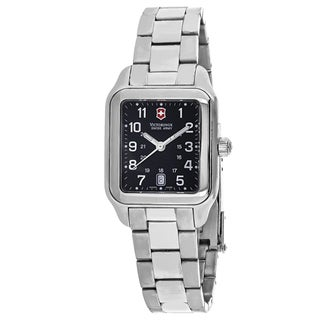Swiss Army Women's 241070 Officers 1884 Rectangle Black dial Stainsless steel Bracelet Watch