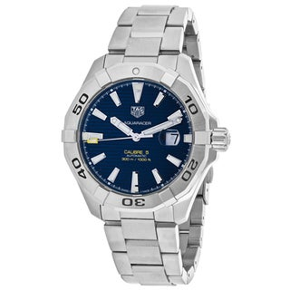 Tag Heuer Men's WAY2012.BA0927 Aquaracer Round Blue dial Stainless steel bracelet Watch