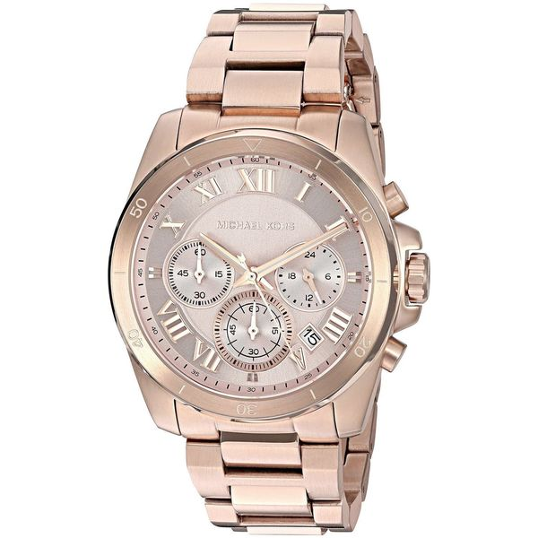 47a661a84e6e Shop Michael Kors Women s MK6367  Brecken  Chronograph Rose-Tone Stainless  Steel Watch - Free Shipping Today - Overstock - 12333103
