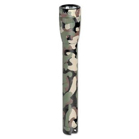 MINI-Mag Maglite Camo Green Aluminum Flashlight with Holster and AA Batteries