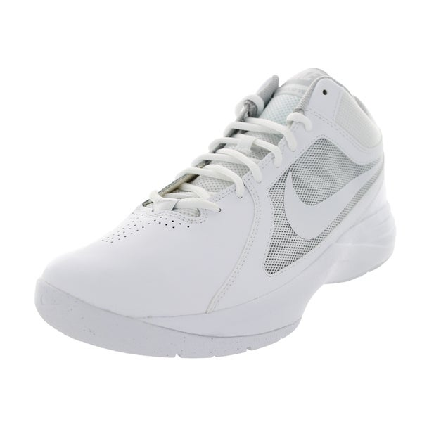 94fec5ad3c24 Nike Men  x27 s The Overplay Viii White White Metallic Silver Basketball