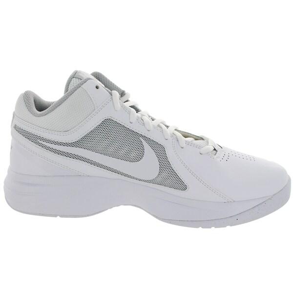 Shop Nike Men's The Overplay Viii WhiteWhiteMetallic