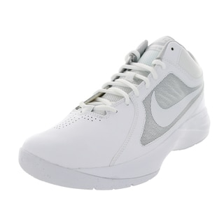 Nike Men's The Overplay Viii White/White/Metallic Silver Basketball Shoe