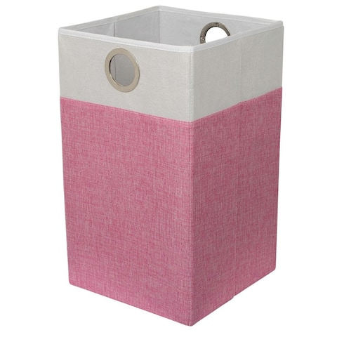 BirdRock Home Linen Folding Cloth Laundry Hamper With Handles