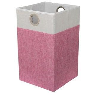 BirdRock Home Linen Folding Cloth Laundry Hamper With Handles