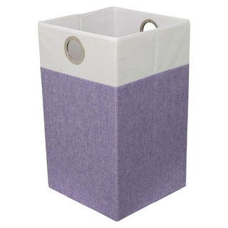 BirdRock Home Folding Cloth Laundry Hamper with Handles