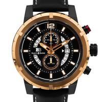 Buech & Boilat Beaumont Trophy Men's classically styled chronograph watch, 48mm case, multi-level dial, Superluminova