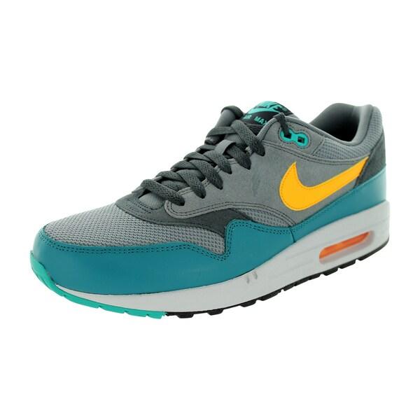 Shop Nike Men's Air Max 1 Essential Cool GreyLaser Orange