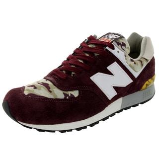 New Balance Men's Camo 576 Classics Burgundy/White/Tan Running Shoe