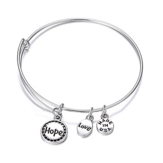 Hope Inspirational Charm Bangle Bracelet