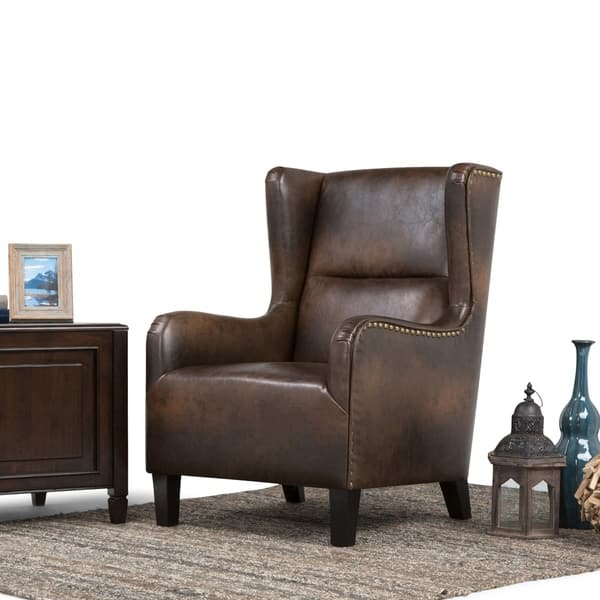Miraculous Shop Wyndenhall Manford 28 Inch Wide Traditional Wingback Caraccident5 Cool Chair Designs And Ideas Caraccident5Info